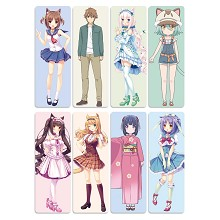 NEKOPARA anime pvc bookmarks set(5set)