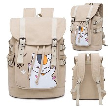 Natsume Yuujinchou anime canvas backpack bag