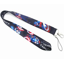 Captain America neck strap Lanyards for keys ID ca...