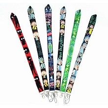 Rick and Morty neck strap Lanyards for keys ID car...