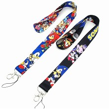 Sonic the Hedgehog neck strap Lanyards for keys ID...