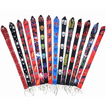 Spider Man neck strap Lanyards for keys ID card gy...