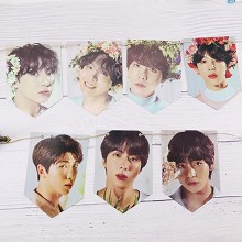 BTS star hanging flag album return photo poster ha...