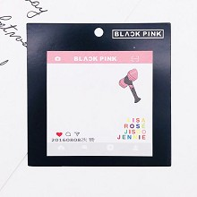 BLACK PINK star Memo Pad Notes Memo Sticker Pape