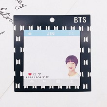 BTS JIN star Memo Pad Notes Memo Sticker Pape
