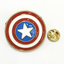 The Avengers Captain America brooch pin