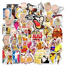 One Punch Man anime waterproof stickers set(50pcs ...