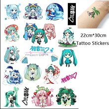 Hatsune Miku anime waterproof tattoo stickers