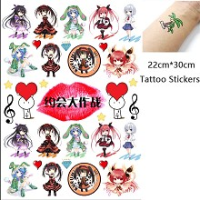 Date A Live anime waterproof tattoo stickers