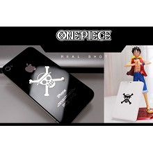One Piece Luffy anime metal mobile phone stickers