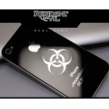 Resident Evil metal mobile phone stickers