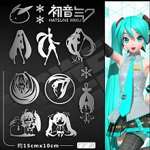 Hatsune Miku anime metal mobile phone stickers a s...