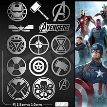 The Avengers metal mobile phone stickers a set