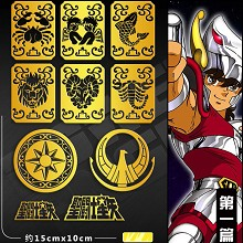Saint Seiya anime metal mobile phone stickers a se...