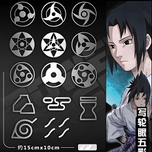 Naruto anime metal mobile phone stickers a set