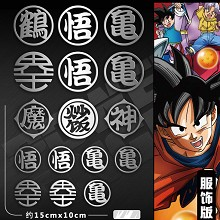 Dragon Ball anime metal mobile phone stickers a se...