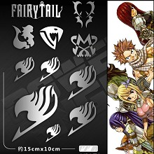 Fairy Tail anime metal mobile phone stickers a set