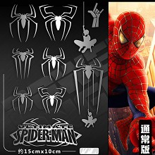 Spider man metal mobile phone stickers a set