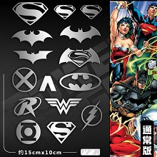 Justice League metal mobile phone stickers a set