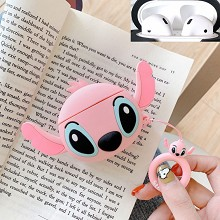 Stitch anime Airpods 1/2 shockproof silicone cover...