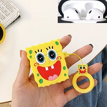 Spongebob anime Airpods 1/2 shockproof silicone co...