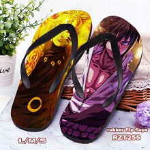 Naruto anime flip-flops shoes slippers a pair