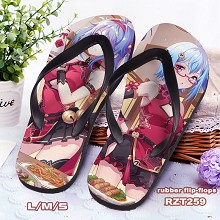 Bilibili anime flip-flops shoes slippers a pair