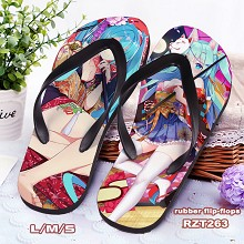Hatsune Miku anime flip-flops shoes slippers a pai...