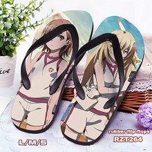 Toaru Kagaku no Railgun anime flip-flops shoes sli...