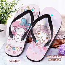 My Melody anime flip-flops shoes slippers a pair