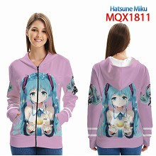 Hatsune Miku anime long sleeve hoodie cloth