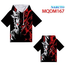Naruto anime short sleeve hoodie t-shirt cloth