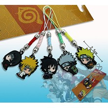 Naruto anime phone straps(5pcs a set)