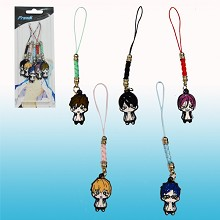 Free anime phone straps(5pcs a set)