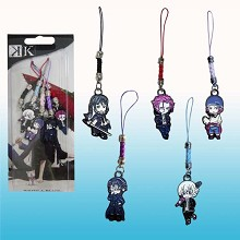 K anime phone straps(5pcs a set)