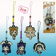 LoveLive anime phone straps(5pcs a set)