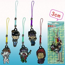 Osomatsu-san anime phone straps(5pcs a set)