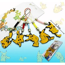 Pokemon pikachu anime phone straps(5pcs a set)