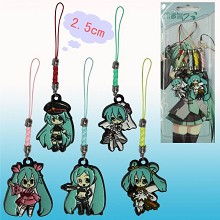 Hatsune Miku anime phone straps(5pcs a set)