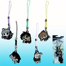 Dangan Ronpa anime phone straps(5pcs a set)