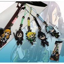 Sword Art Online anime phone straps(5pcs a set)