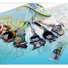 One Piece anime phone straps(5pcs a set)