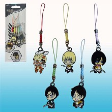 Attack on Titan anime phone straps(5pcs a set)