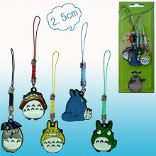 Totoro anime phone straps(5pcs a set)