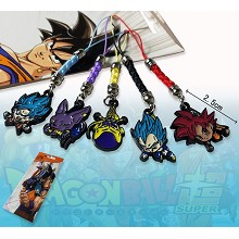 Dragon Ball anime phone straps(5pcs a set)
