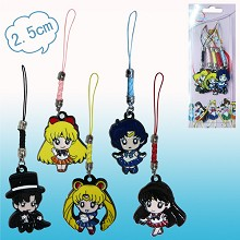 Sailor Moon anime phone straps(5pcs a set)