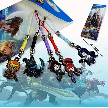 Hero Moba anime phone straps(5pcs a set)