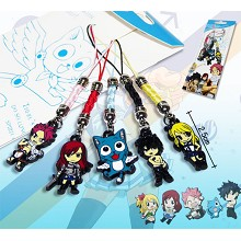 Fairy Tail anime phone straps(5pcs a set)