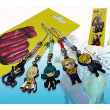 Oen Punch Man anime phone straps(5pcs a set)