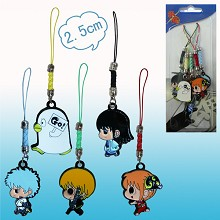 Gintama anime phone straps(5pcs a set)